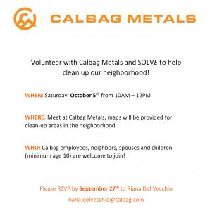 SOLVE-Calbag-neighborhood-event