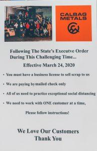 Calbag Metals Loyal Customers Governor Brown